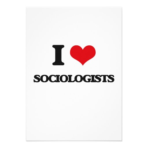 Amo a sociólogos invitacion personal