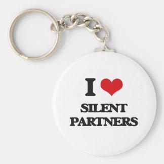 Amo a socios silenciosos llavero redondo tipo pin