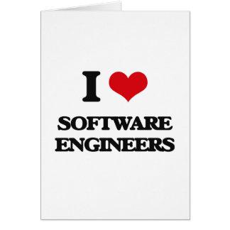 Amo a Software Engineers Tarjeta De Felicitación