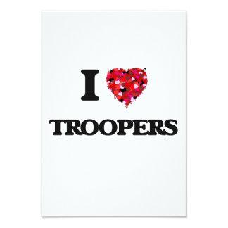 """Amo a soldados de caballería invitación 3.5"""" x 5"""""""