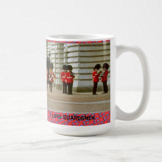 Amo a soldados de la guardia taza de café