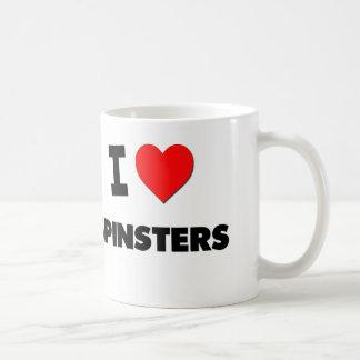 Amo a solteronas taza de café