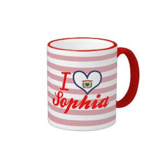 Amo a Sophia, Virginia Occidental Tazas De Café