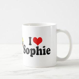 Amo a Sophie Taza Básica Blanca