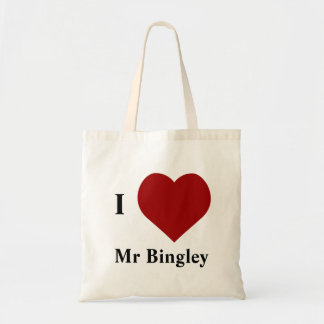 Amo a Sr. Bingley Bolsa Tela Barata