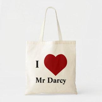 Amo a Sr. Darcy Bolsa Tela Barata