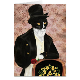 Amo a Sr. Darcy Romantic Cat Card Tarjeta De Felicitación