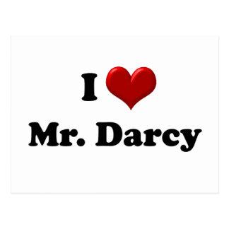 Amo a Sr. Darcy Tarjeta Postal