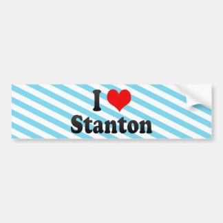 Amo a Stanton, Estados Unidos Pegatina Para Auto