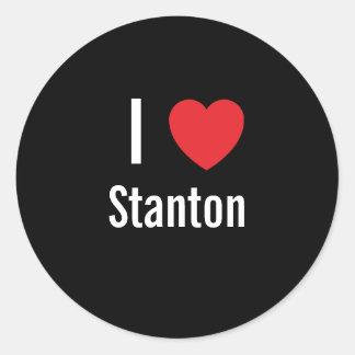 Amo a Stanton Pegatina Redonda