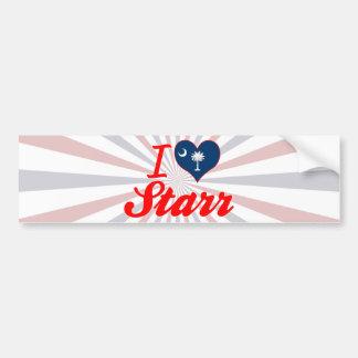 Amo a Starr, Carolina del Sur Pegatina De Parachoque