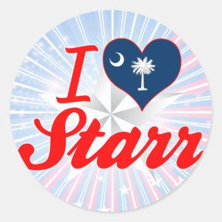Amo a Starr Carolina del Sur Etiqueta