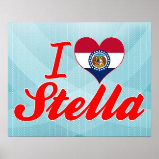 Amo a Stella, Missouri Impresiones