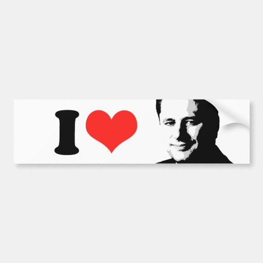 Amo a Stephen Harper Etiqueta De Parachoque