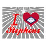 Amo a Stephens, Arkansas Tarjeta Postal