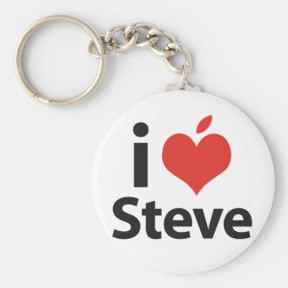 Amo a Steve Llavero Redondo Tipo Pin