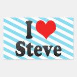 Amo a Steve Rectangular Pegatinas