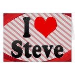 Amo a Steve Tarjetón