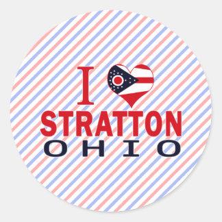 Amo a Stratton Ohio Pegatinas