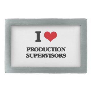 Amo a supervisores de la producción hebillas de cinturón rectangulares
