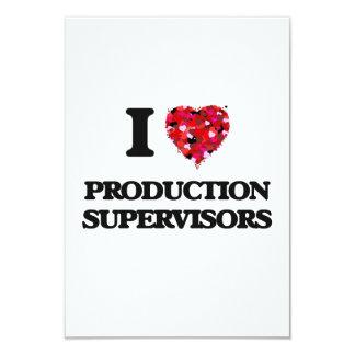 """Amo a supervisores de la producción invitación 3.5"""" x 5"""""""