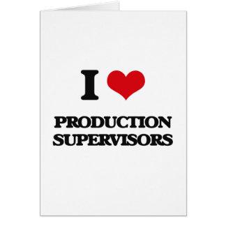 Amo a supervisores de la producción tarjeton