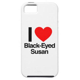 amo a susan negro-observada iPhone 5 carcasas
