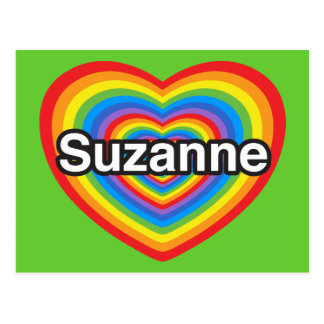 Amo a Susana. Te amo Susana. Corazón Postal