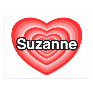 Amo a Susana. Te amo Susana. Corazón Postales