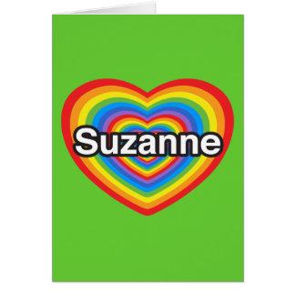 Amo a Susana. Te amo Susana. Corazón Tarjeta De Felicitación