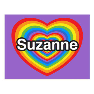 Amo a Susana. Te amo Susana. Corazón Tarjeta Postal