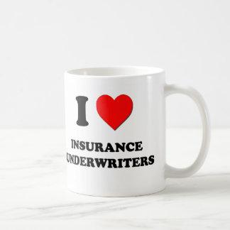 Amo a suscriptores de seguro taza básica blanca
