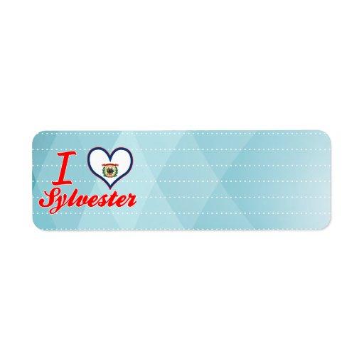 Amo a Sylvester, Virginia Occidental Etiqueta De Remite