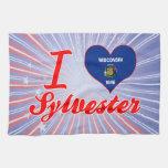 Amo a Sylvester, Wisconsin Toalla De Mano