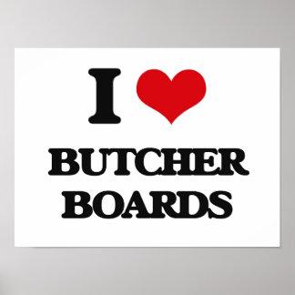 Amo a tableros de carnicero poster