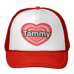 Amo a Tammy. Te amo Tammy. Corazón Gorras