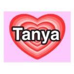 Amo a Tania. Te amo Tania. Corazón Postal