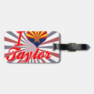 Amo a Taylor, Arizona Etiquetas Maletas