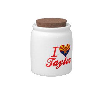 Amo a Taylor, Arizona Jarra Para Caramelo