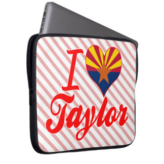 Amo a Taylor, Arizona Fundas Portátiles