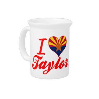 Amo a Taylor, Arizona Jarra De Beber