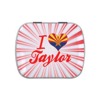 Amo a Taylor, Arizona Jarrones De Dulces