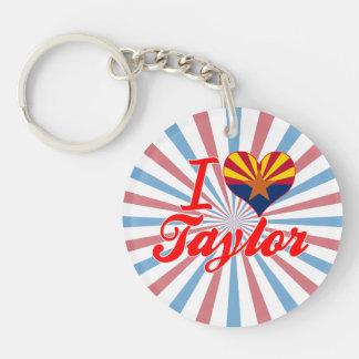 Amo a Taylor, Arizona Llaveros