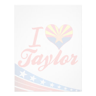 Amo a Taylor, Arizona Membrete A Diseño
