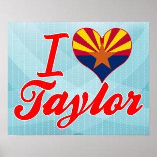 Amo a Taylor, Arizona Impresiones