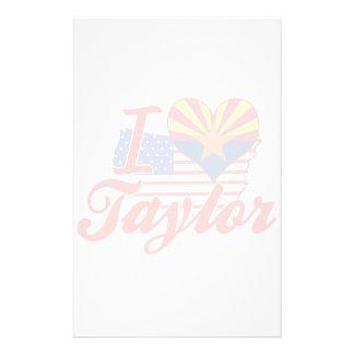 Amo a Taylor, Arizona Papeleria Personalizada