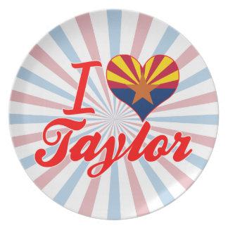 Amo a Taylor, Arizona Plato De Comida