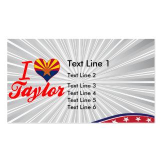 Amo a Taylor, Arizona Plantillas De Tarjetas Personales