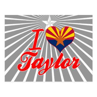 Amo a Taylor, Arizona Postales