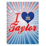 Amo a Taylor, Nueva York Libretas Espirales